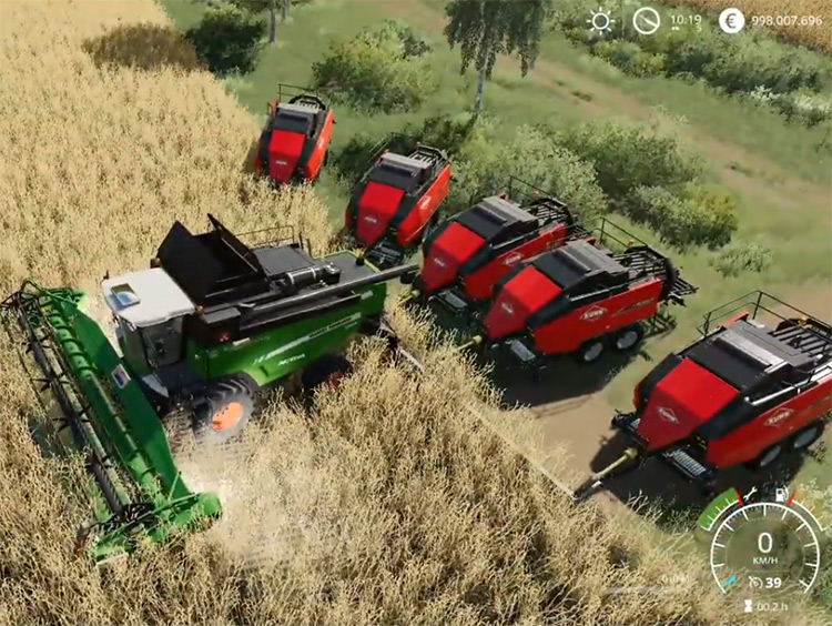 Agco Crazy Harvester Mod for FS19