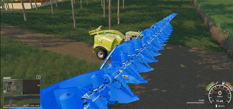 Sugarcane Harvester 50-Meter Mod - FS19