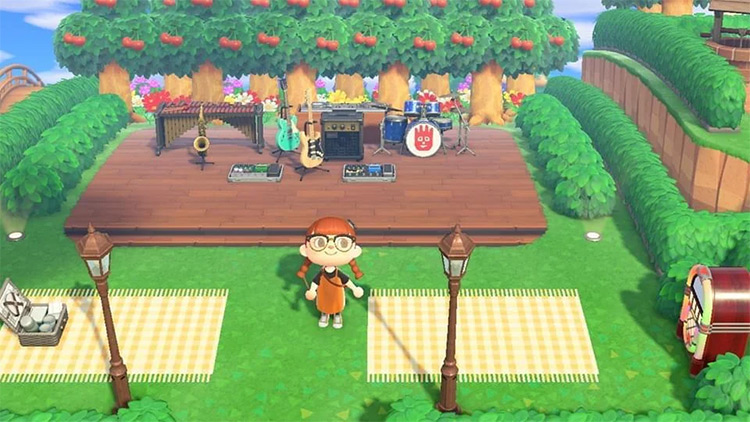 Outdoor Concert Venue Area - ACNH