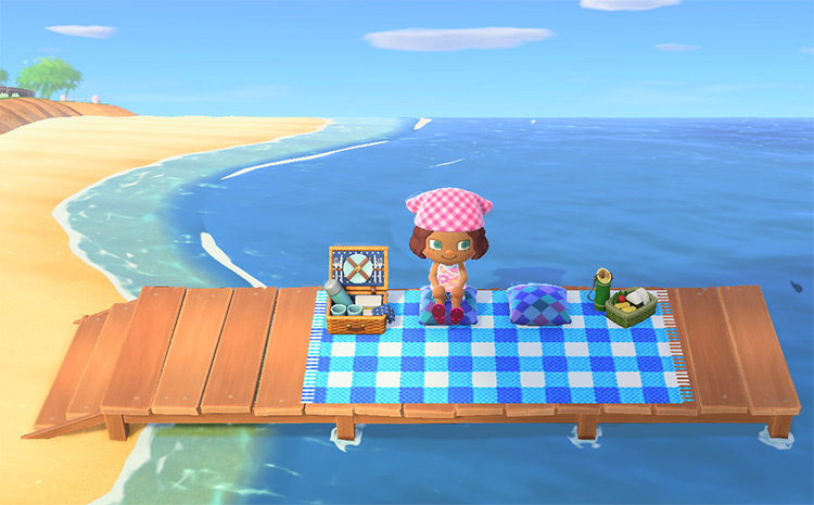 Picnic on Pier Space - ACNH Idea