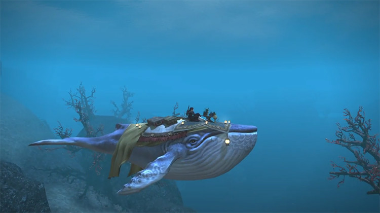 Indigo Whale Mount in FF14