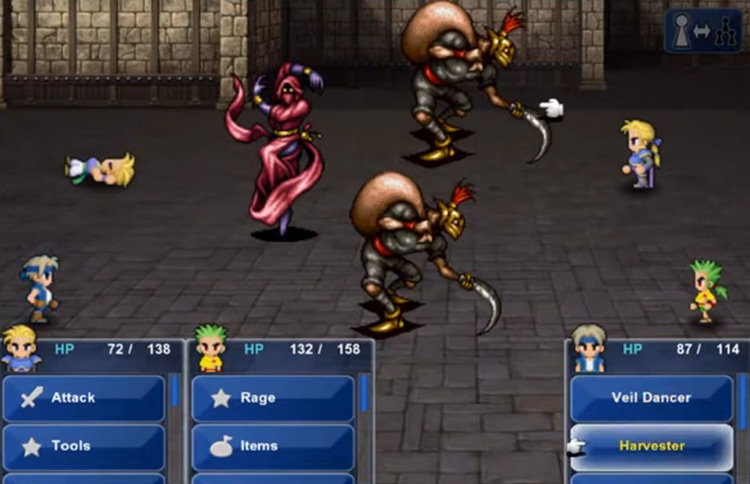 Dragoon Boots and Dragon Horn in FF6