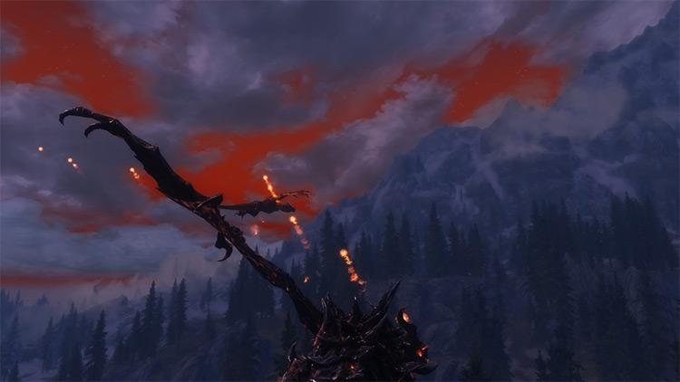 The Burning Skies Skyrim mod