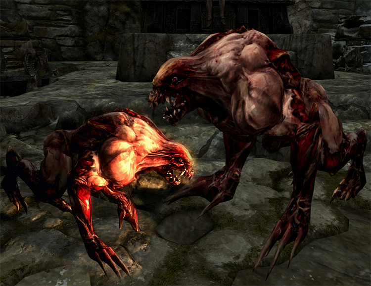 Demon Werewolf mod for Skyrim