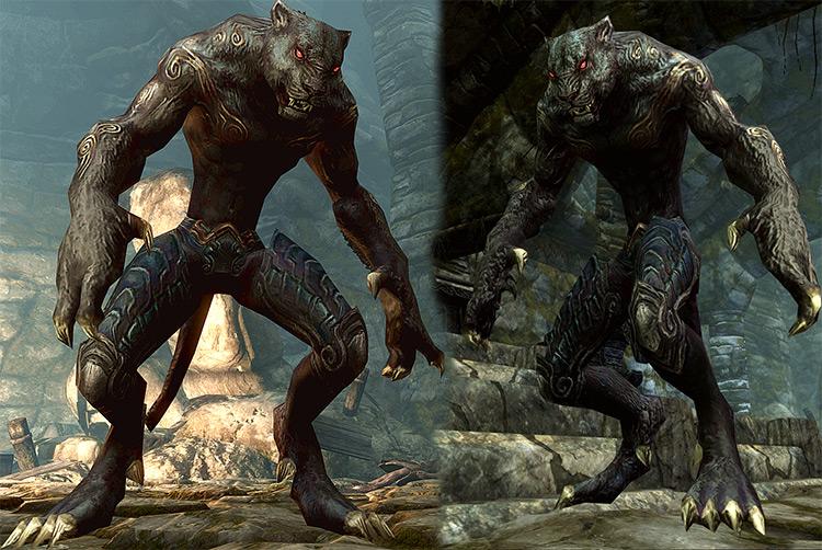 Demon Werepanther mod for Skyrim