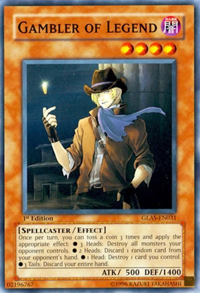 Gambler of Legend Yu-Gi-Oh! Card