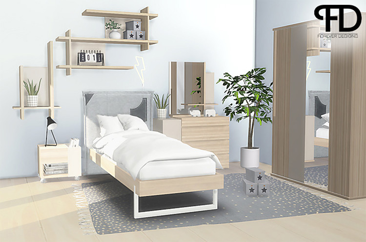 Graphic Bedroom TS4 CC