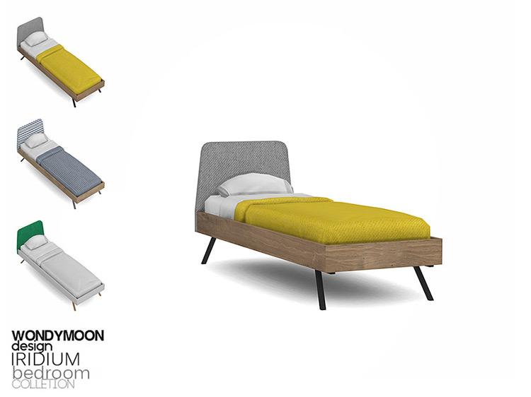 Iridium Single Bed for Sims 4