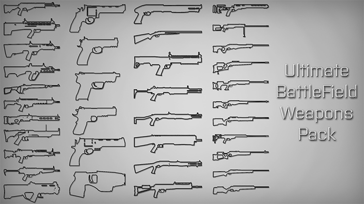 Ultimate Battlefield Weapons Pack GTA5