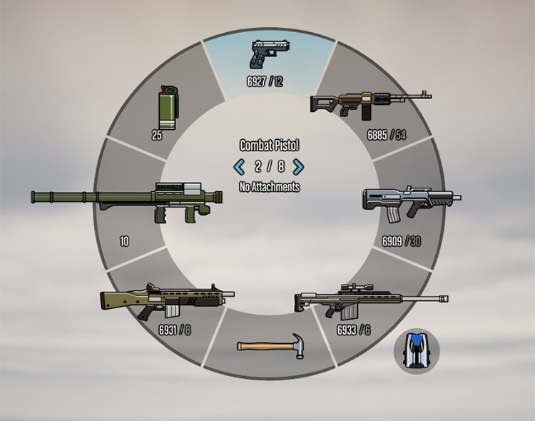 Colored Weapon Wheel GTA5