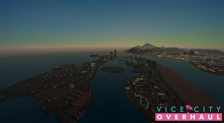Vice City Overhaul mod in GTA5