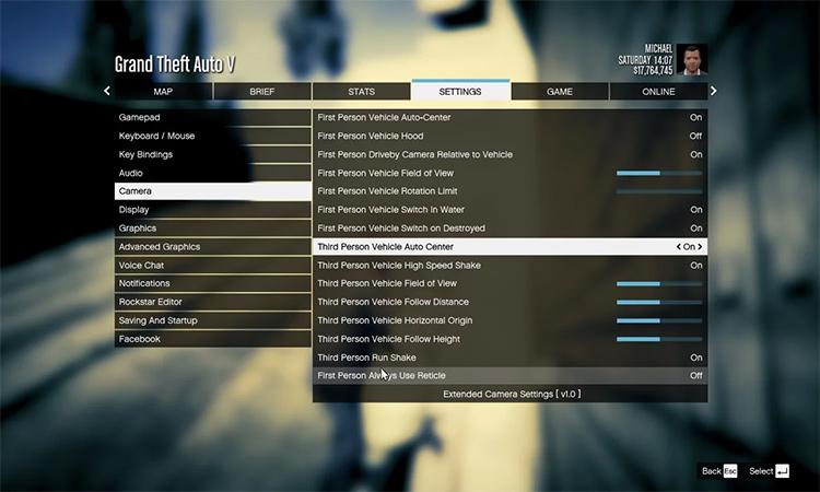 Extended Camera GTA 5 mod