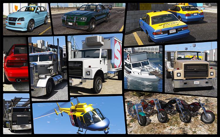 GTA IV cars added to gta5