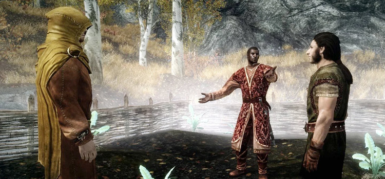 Belethor selling to Nazeem in Skyrim