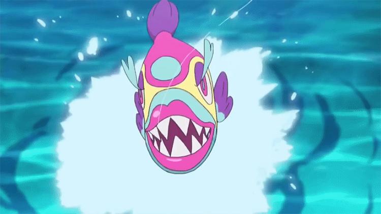 Bruxish Pokemon in the anime