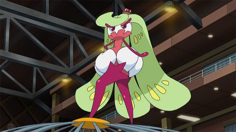 Tsareena screenshot from the Pokemon anime
