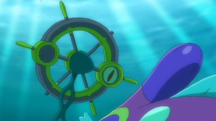 Dhelmise in the Pokemon anime