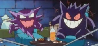 Gengar and Haunter laughing