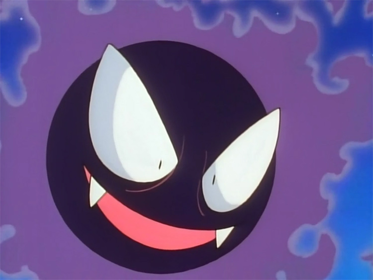 Screenshot of Gastly from the pokemon anime