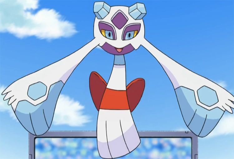 Froslass screenshot in the Pokemon anime