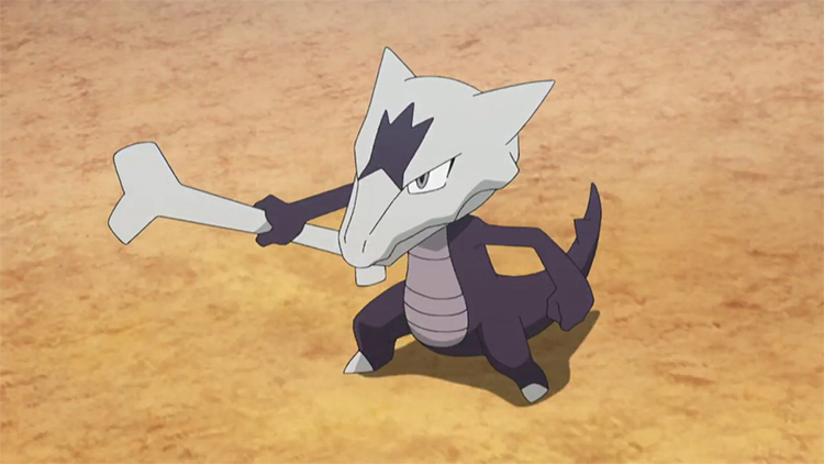 Alolan Marowak gen 7 anime screenshot