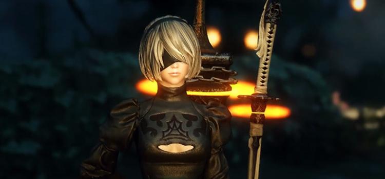 2B with sword screenshot