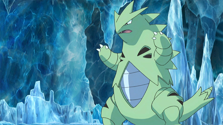 Tyranitar in the anime