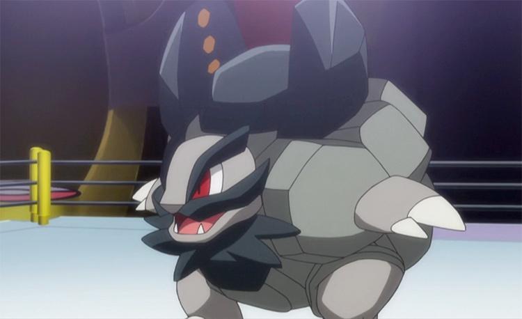 Alolan Golem anime