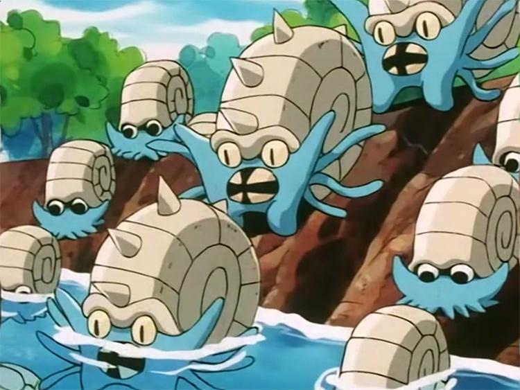 Omastar Pokemon anime