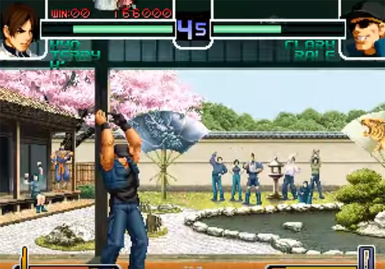 KoF 2002 gameplay screen