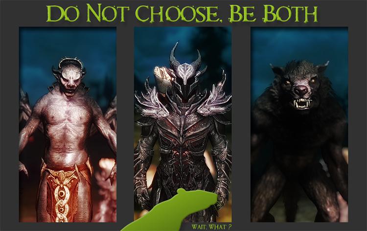 Vampire and Werewolf mod