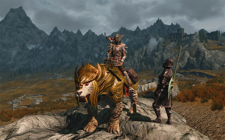 Armored Sabrecat Mount in Skyrim