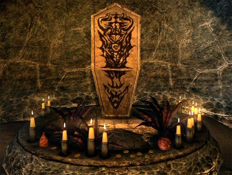 Shrine of Mephala in Skyrim
