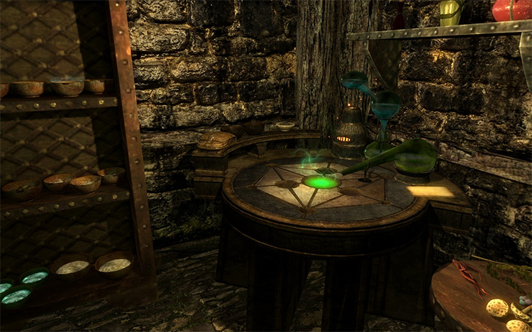 Alchemy Ingredient Storage mod
