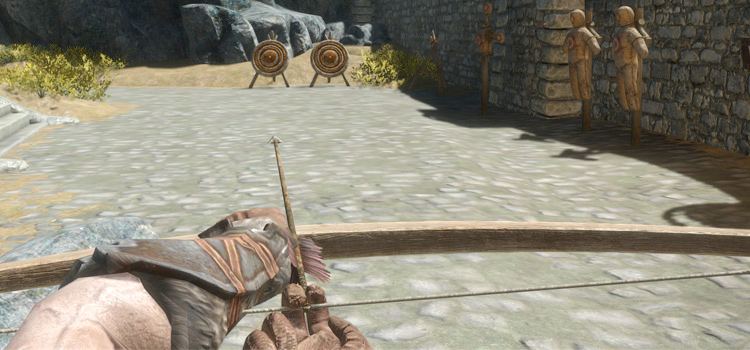 Skyrim archer in first person view