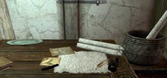 Writing and crafting table mod in Skyrim