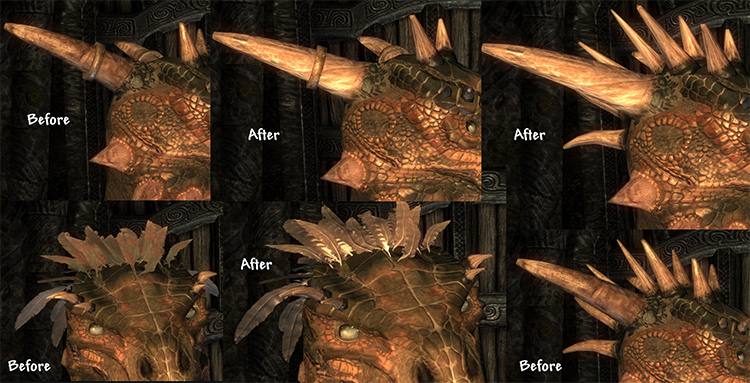 Argonian Improvements Horns mod