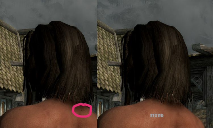 Straight Hair Retexture in Skyrim