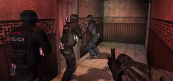 SWAT 4 in-game police raid - HD screenshot of gameplay