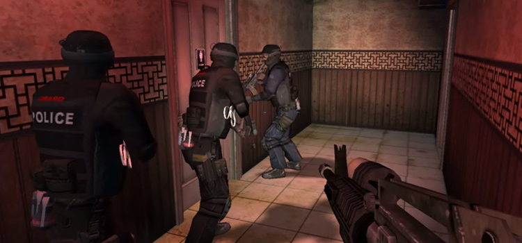 SWAT 4 in-game police raid - HD screenshot of gameplay