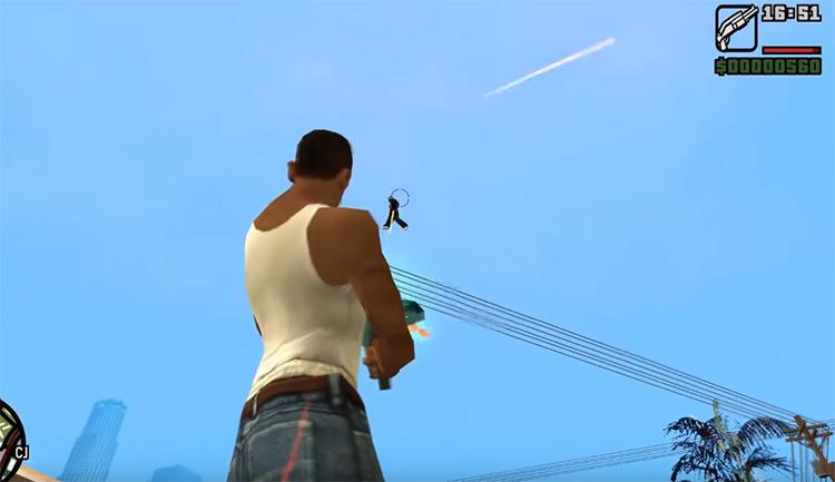 Gravity Gun San Andreas