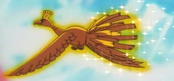 Ho-Oh in the anime from episode 1