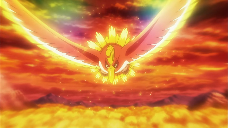 Ho-Oh in the anime