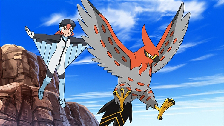 Talonflame in the anime