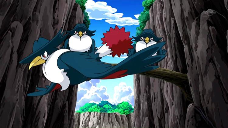 Honchkrow in the anime