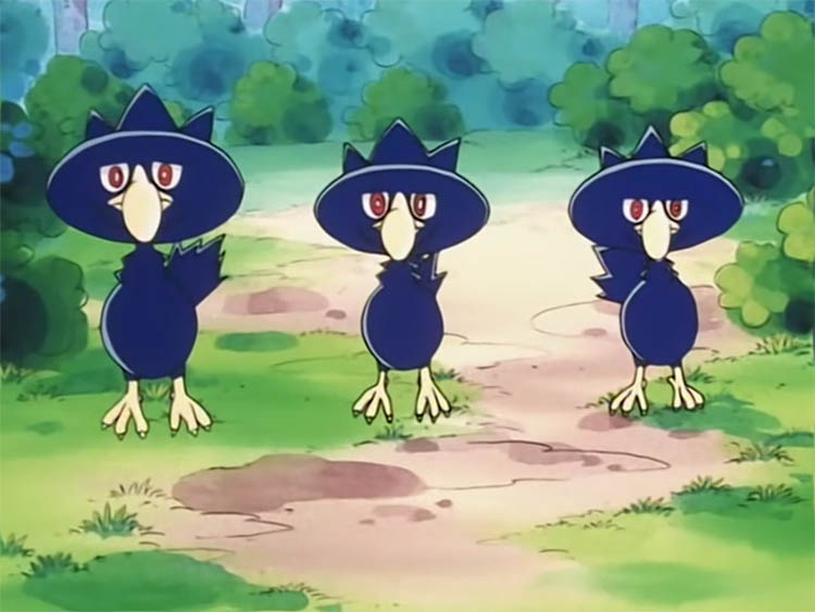 Murkrow in the anime