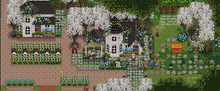 Seasonal Victorian Buildings and Flowers Mod