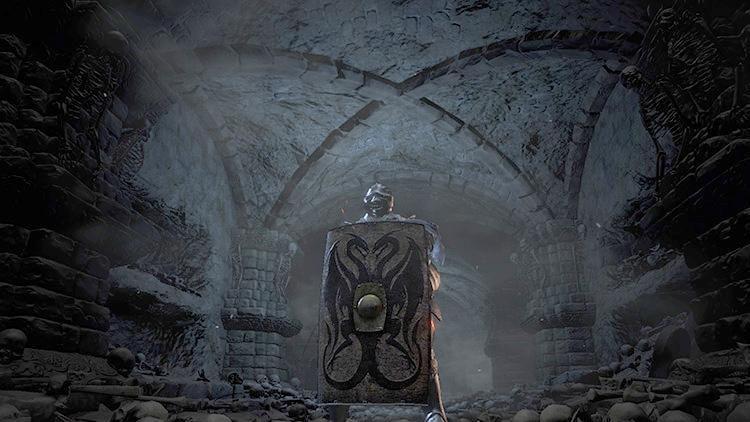 Twin Dragon Greatshield in Dark Souls 3