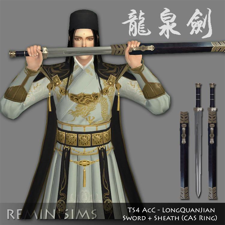 LongQuanJian Sword for Sims 4