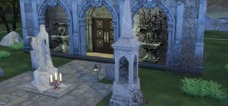 Gravestones and Mortuary CC - TS4 Preview
